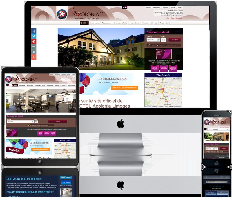 Otelico site internet pour les h tels club des for Site pour les hotels